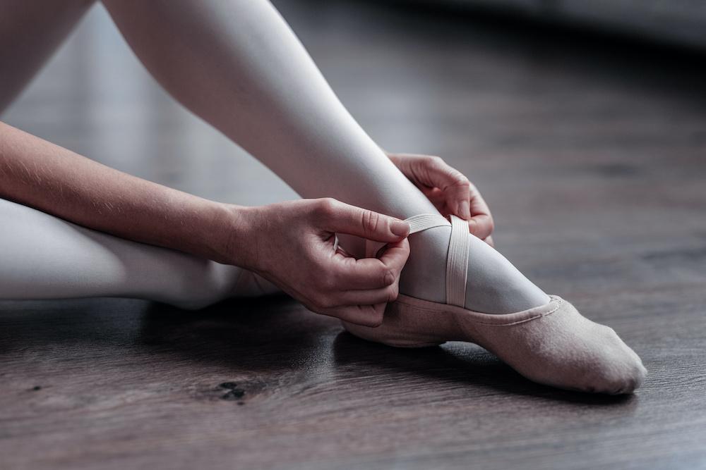 canvas vs leather ballet shoes