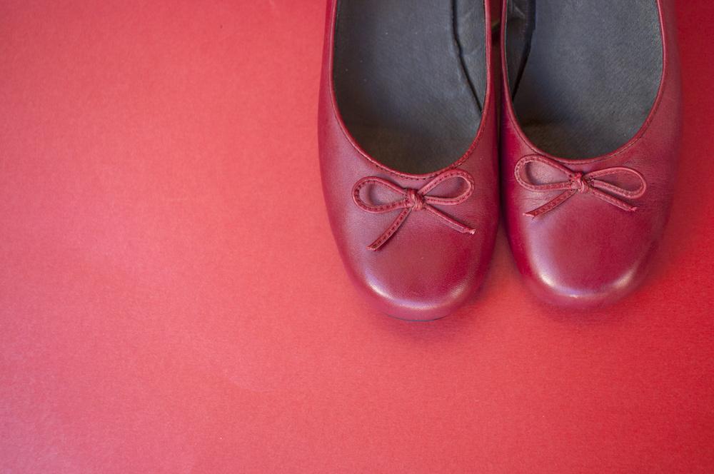 best red ballet flats