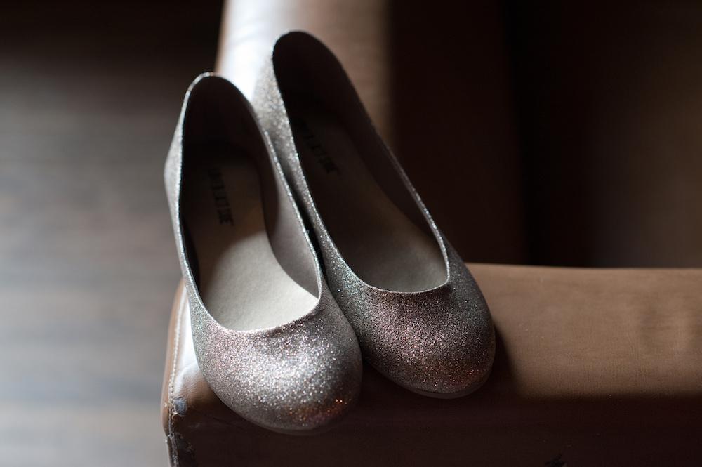 best silver ballet flats